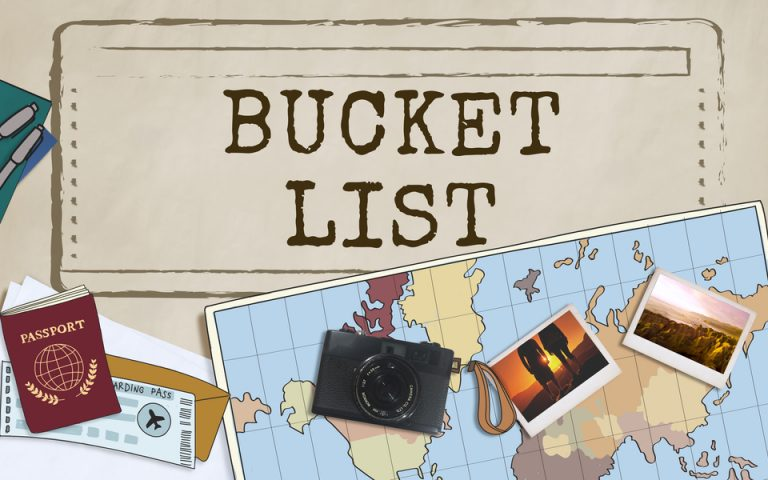 Bucket List of things to do sober