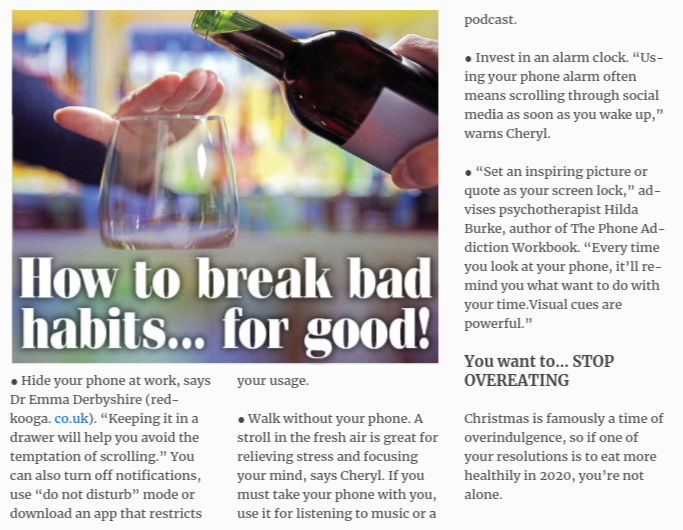 Daily Express - Simon Chapple - Be Sober - How to break bad habits for good